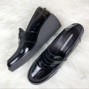 DONALD J. PLINER | Platform Wedge Loafers 9.5